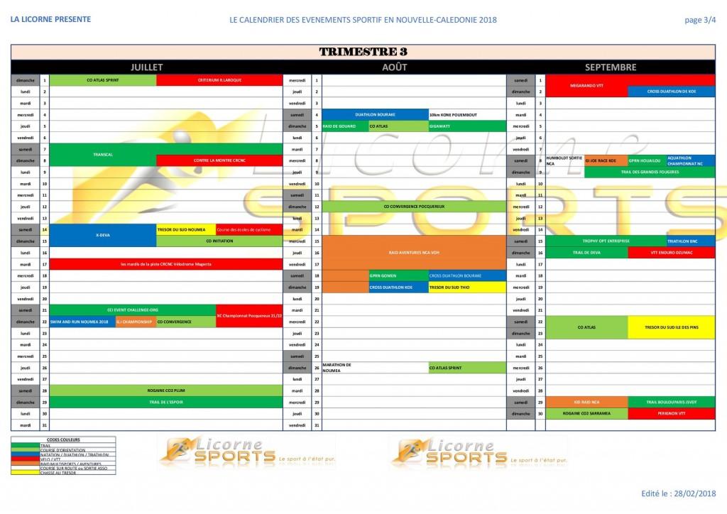 3e trimestre sport NC 2018
